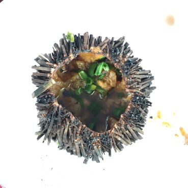 Echinus (or sea urchin) - what we have for lunch