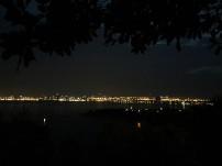 Danang city at night, view taken from Linh Ung pagoda