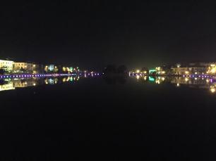 Sapa's central lake at night