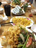 Lunch with many types of Pho Cuon and foods