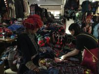 brocades and handmade items sold at the market