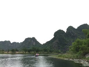 3 hours sitting in the boat and the ferryman took us around Trang An, Ninh Binh