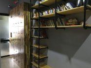 bookshelf and lockers at O.M.E hostel - Quy Nhon, VIetnam